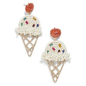BaubleBar Vanilla Ice Cream Cone Earrings